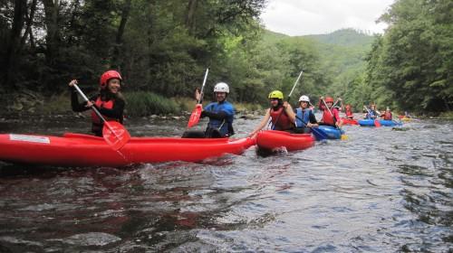 Splav Hornádu na kanoe