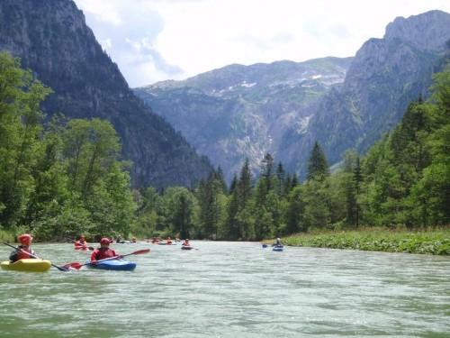 Splavovanie na rieke Salza