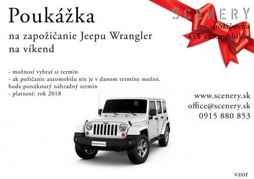 Jeep Wrangler na deň alebo na víkend