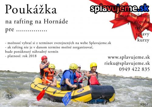 Darčeková poukážka - rafting